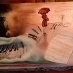 Création PatdelMuro Peinture et collage