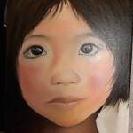 Petite fille à l'école - Cambodge
