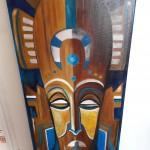 Masque africain bleu